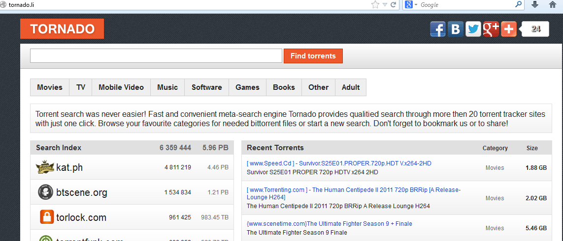 torrent meta search engine sites