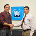 .com Zeeshan Ali Khan with Additional Director Marketing DHA Ahmed Arif Makhdumi